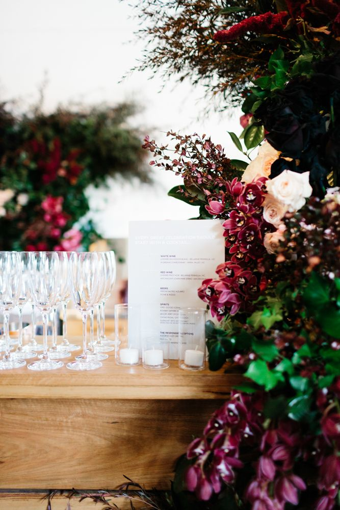 Venue- Gather & Tailor  (West Melbourne) Winter Warehouse Wedding / Photography: Erin & Tara