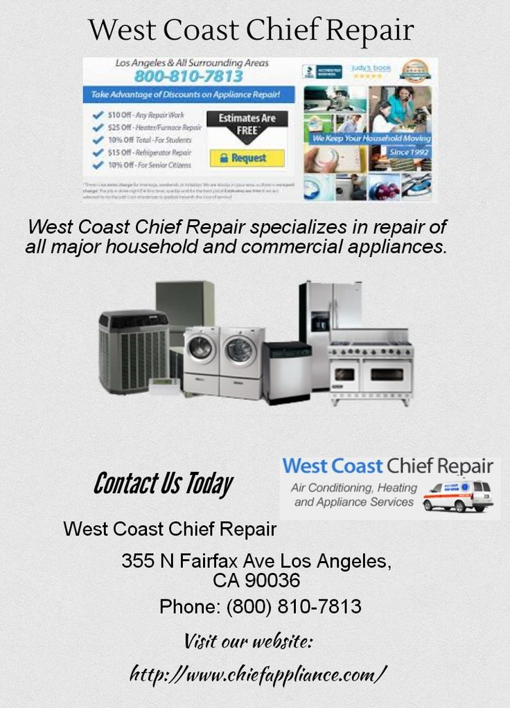 Pin by Chief Appliance on HVAC services Appliance repair