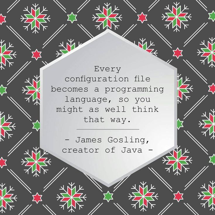 "Web Developer quote of the day: Every configuration file becomes a programming language so you might as well think that way."" - James Gosling creator of Java -  #ui #web #webdevelopment #webdevelopment #programmers #programminglife #html #html5 #css #css3"
