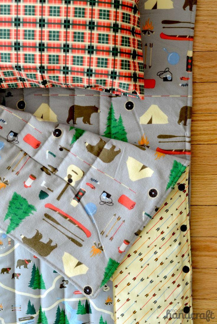 Snap-up sleeping bag sewing tutorial - The Sewing Rabbit