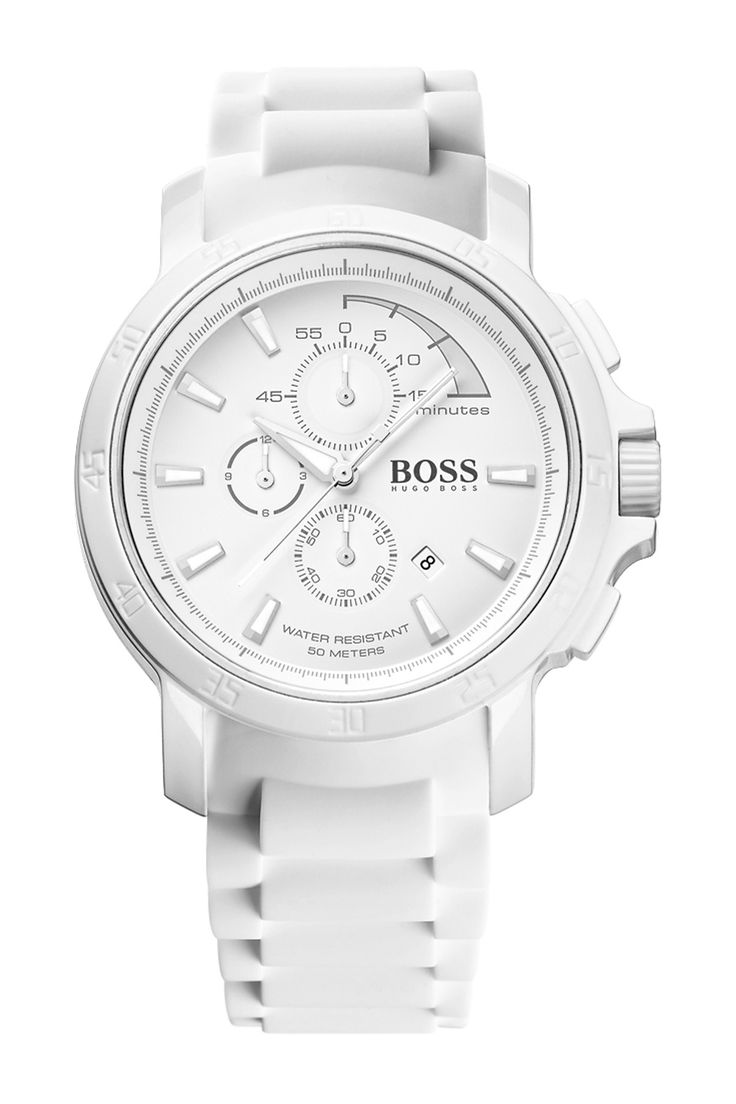 Men's HB2001 Resin & Stainless Steel Silicone Strap Chronograph Watch by HUGO BOSS on @nordstrom_rack