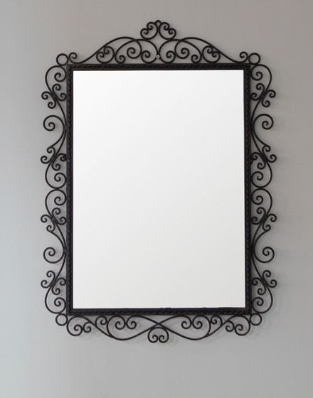 Iron Framed Moroccan Mirror