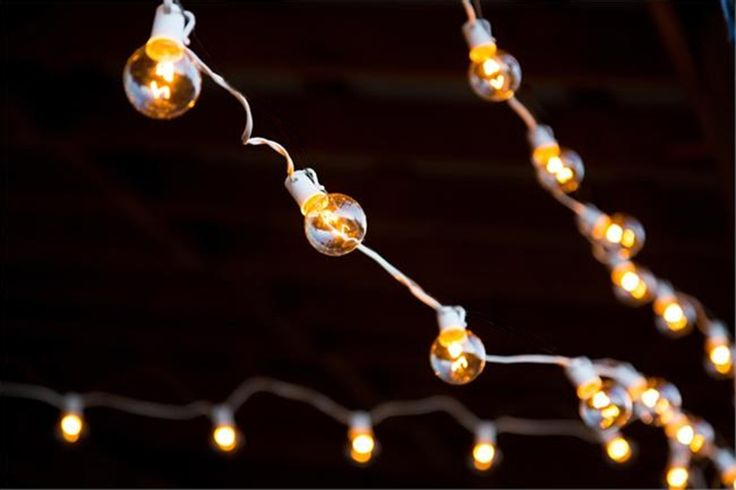 Globe String Lights, 75 ft, White, 50-Socket, 18 inch spacing, 5-watt bulbs included - $55.00