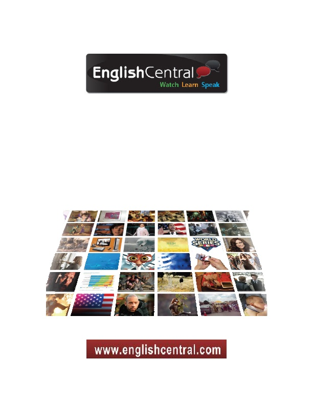 The EnglishCentral Students' Guide.