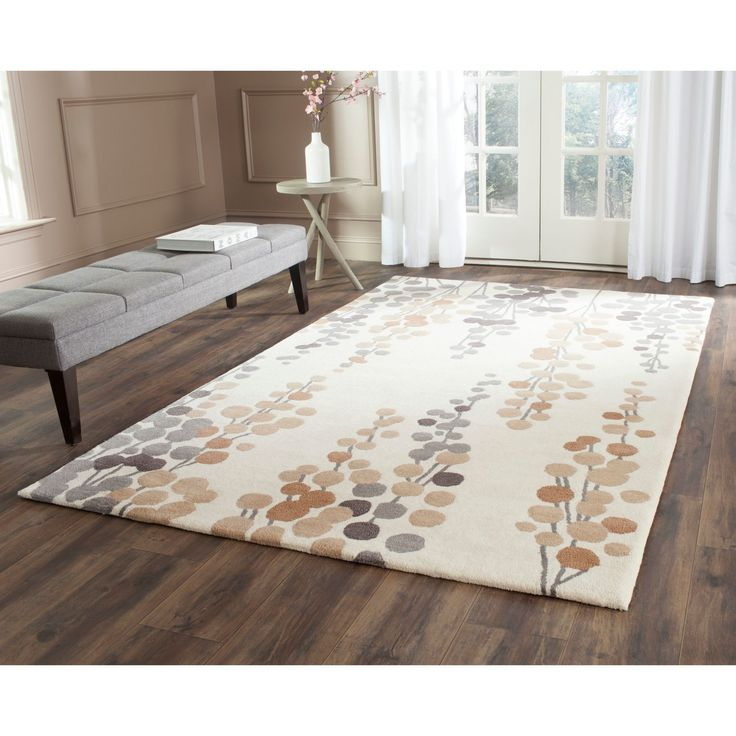 Safavieh Hand-Tufted Soho Beige/ Grey Wool/ Viscose Rug (6