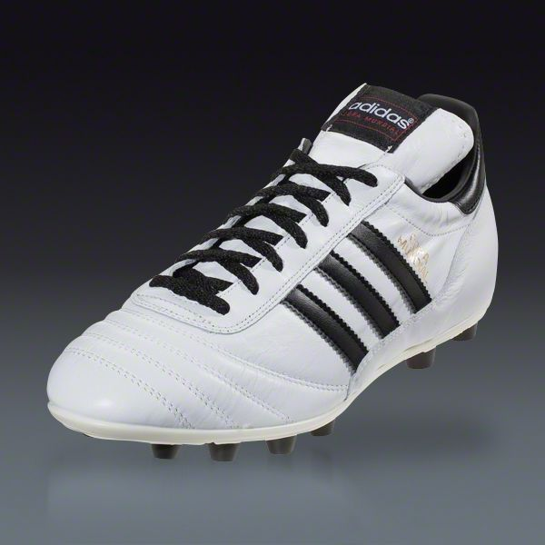 adidas White Copa Mundial Firm Ground Soccer Shoes