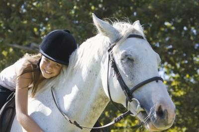 (Horseback) Helps people with cerebal palsy learn how to ride a horse in a safe manner.