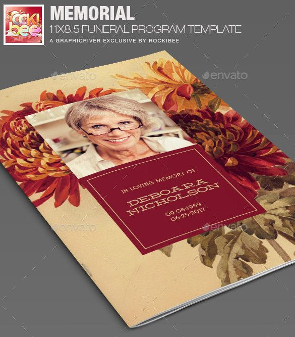 22+ Funeral Program Templates - Free Word, PDF, PSD Documents Download | Free & Premium Templates