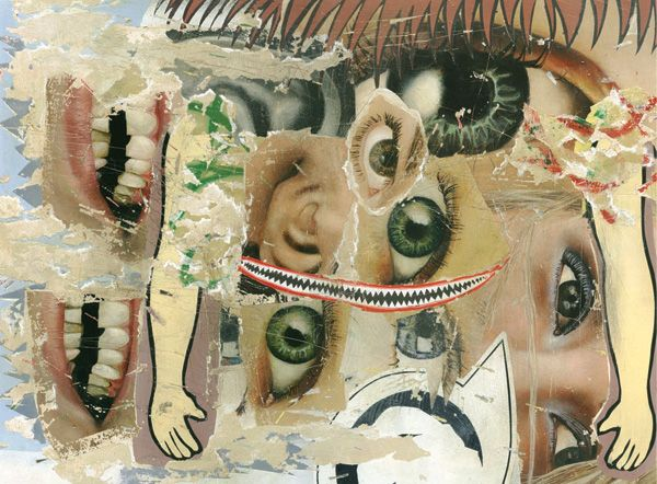 "asha zero "" shout engineerr "" acrylic on board 30 x 40 cm 2008 http://www.revolution-daily.com/asha-zero-interview/ #ashazero #painting"