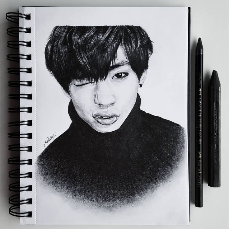 Drawing of V, Kim Taehyung, from BTS