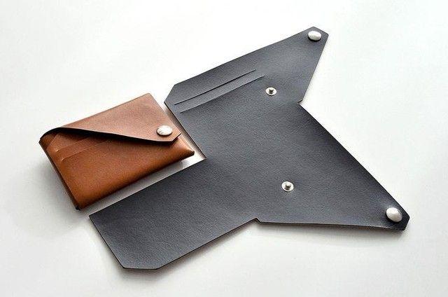 Smart Wallet - Carteira Masculina Slim em Couro e Porta Moeda
