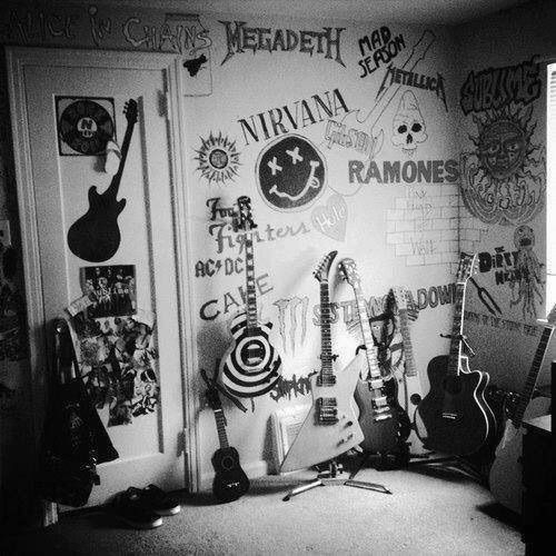 Its an awesome punk bedroom with band names that I like. 65 best Dream World images on Pinterest   Bedroom ideas  Dream