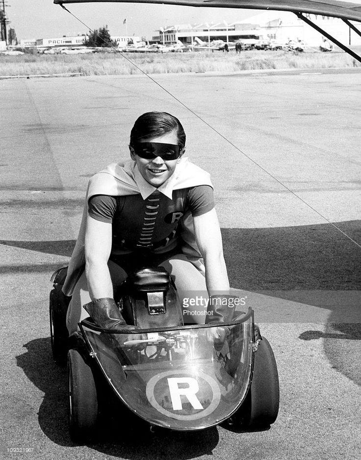 Burt Ward as Robin co-starring in Batman popular American TV series, ..