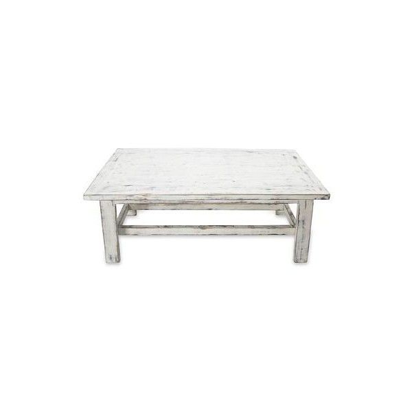 NOVICA Handcrafted Rustic White Wood Coffee Table (670 AUD) ❤ liked on Polyvore featuring home, furniture, tables, accent tables, coffee tables, homedecor, white, handmade coffee table, wood table and rustic table