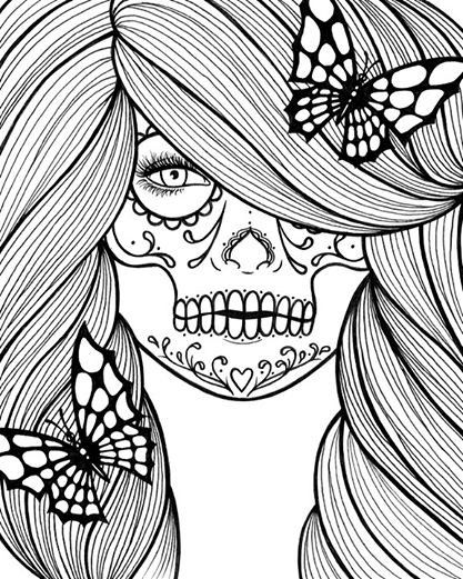 calavera catrina coloring pages - photo#18
