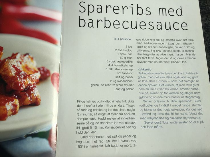 Spareribs med barbecue sauce