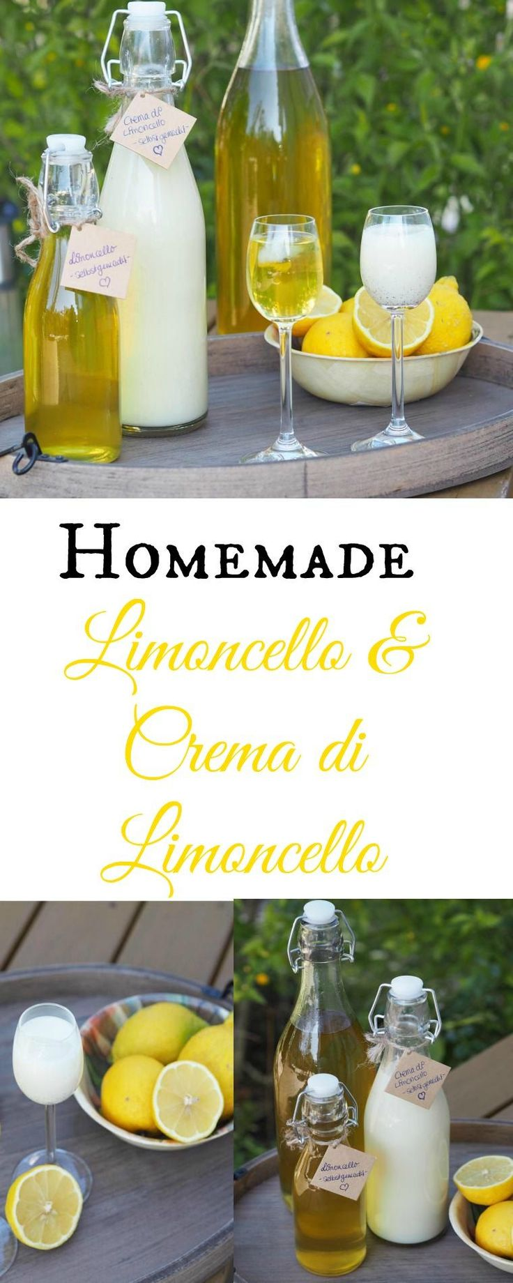Wenn das Leben dir Zitronen schenkt mach Limonade draus…oder Limoncello & Crema di Limoncello! Habt Ihr schon mal selbstgemachten Limoncello getrunken? Uiii, Limoncello aus leckeren Zitronen schmeckt einfach traumhaft. Oder fast noch leckerer finde ich ja den Crema di Limoncello. Im Thermomix oder im Topf wirklich sehr schnell hergestellt – nur der Ansatz in welchem die Zitronenschalen schlummer, dauert etwas länger. #limoncello #zitronen #cremadilimoncello