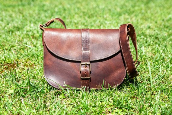 TRAMWAY LEATHER HANDBAG. Vegetable tanned leather bag. by KURTIK, €83.00