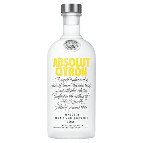 Absolut Citron Lemon Flavoured Vodka, 70 cl Super-premium Swedish vodka blended with lemon. andlt