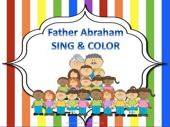 This is one of the kids favorite songs to sing at Sunday School, Father Abraham.  It includes words, illustrations, a coloring page, and a memory verse.  This will make a cute addition to your Sunday School lessons.Follow Limars Stars:TPT StoreMrsLimarsStars.comFacebook& Twitter @LimarsStarsThanks for stopping by!Asia