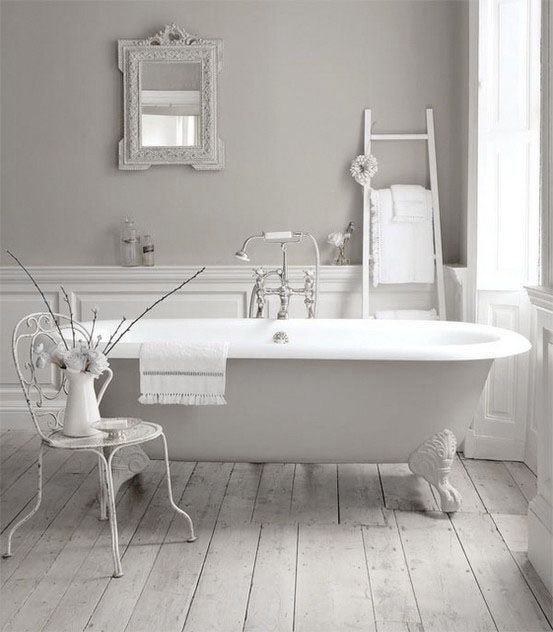 Dove Gray Home Decor ♅ Light Grey And White Bathroom