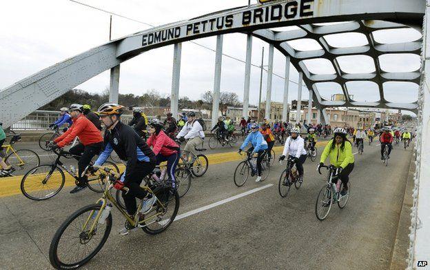 Selma bridge and the battle over its 'KKK name'.  Edmund Pettus Bridge