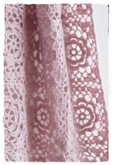 Use this picture for color, thread inspiration of the rose granny square afghan - doesn't link to pattern here.