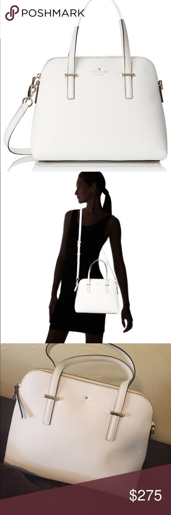 Authentic Kate Spade Handbag! Adorable Bright White Kate Spade Handbag with cross body strap included! Brand new, NEVER before used without tags. Kate spade dust bag included!! kate spade Bags - white handbag sale, handbags black leather, cheap womens purses *sponsored https://www.pinterest.com/purses_handbags/ https://www.pinterest.com/explore/purses/ https://www.pinterest.com/purses_handbags/designer-handbags/ http://www.zappos.com/bags