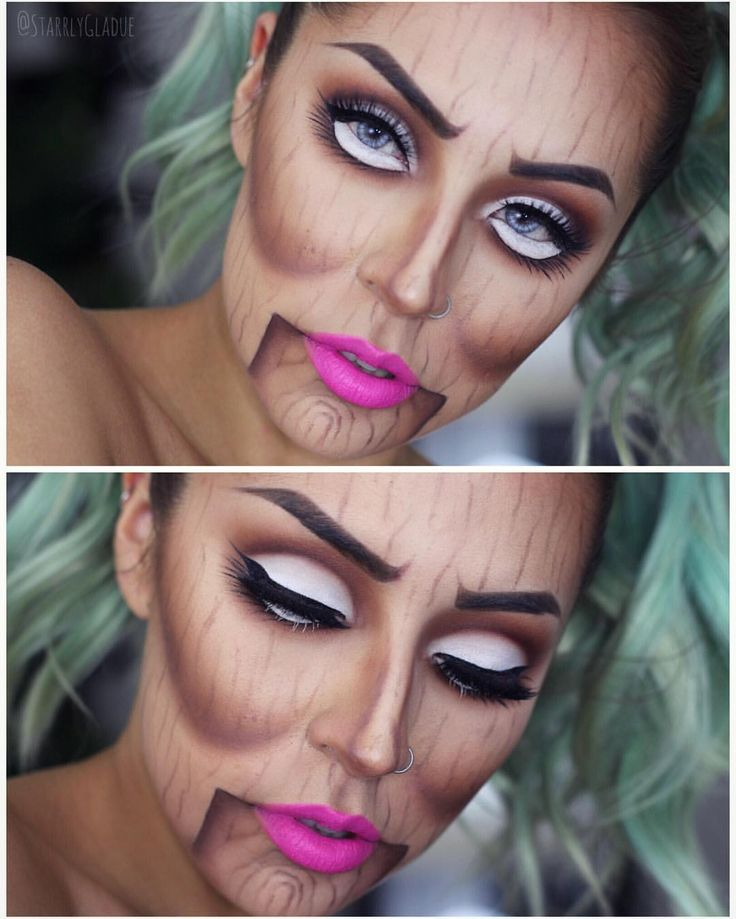 Ventriloquist makeup - Starrly Gladue on Instagram