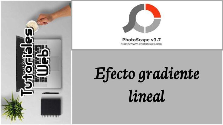 PhotoScape 2017 - Efecto gradiente lineal (español)