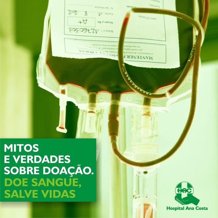 Doar sangue doi? Afina o sangue? Alguns mitos ainda circulam o universo da doação de sangue. Para estimular a todos a doar sangue, preparamos uma série de Mitos e Verdades sobre a doação. #Saúde #Solidariedade #Mitos #Verdades #Dúvidas #Doar #DoaçãodeSangue #Amor #Sangue