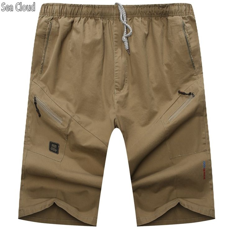 Sea Cloud Free shipping Summer plus size men's clothing shorts extra large cotton knee-length casual trousers cargo men shorts