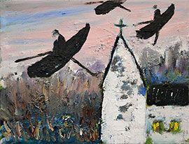 """""""I kvällsljus"""", 2004, olja på duk, 27 x 35 cm, Hans Wigert"""