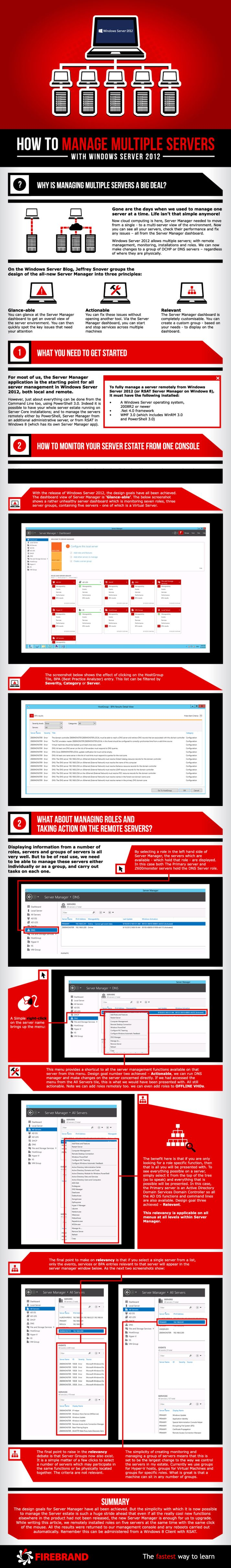 How to manage multiple servers with Windows Server 2012 #infografia #infographic #microsoft