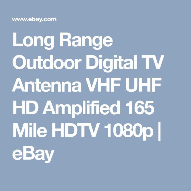 Long Range Outdoor Digital TV Antenna VHF UHF HD Amplified 165 Mile HDTV 1080p | eBay