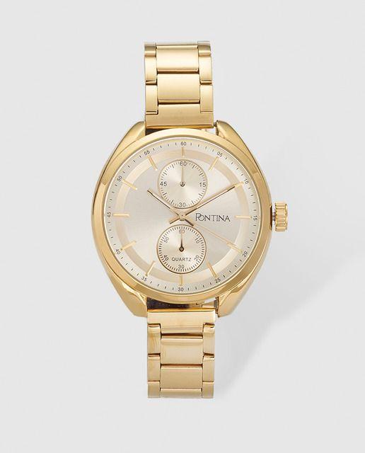 5aacea58d934 Reloj de mujer Pontina dorado