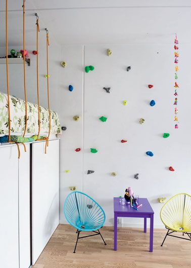 A climbing wall doesn't have to be huge or complicated - FUN!