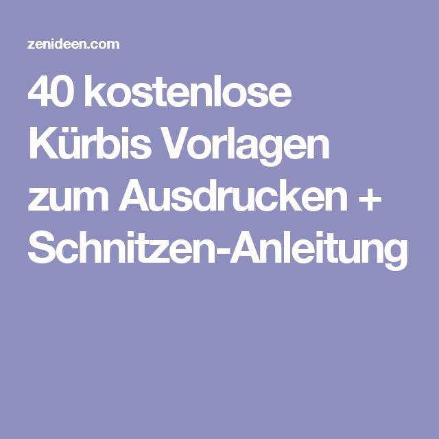 40 kostenlose Kürbis Vorlagen zum Ausdrucken + Schnitzen-Anleitung
