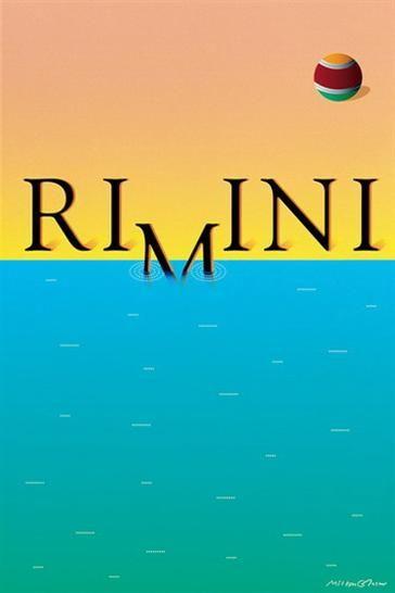 Rimini 1995  Rimini a bagno. Manifesto edito da Rimini Turismo nel 1995 affidato a Milton Glaser, celebre studio di grafica pubblicitaria newyorkese