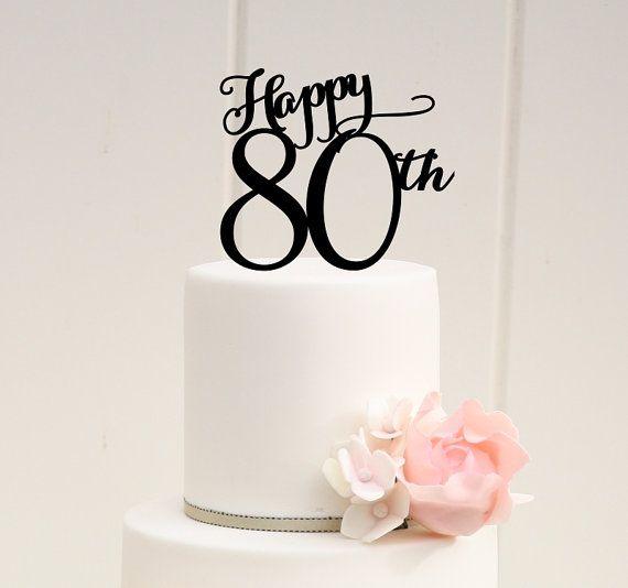 Happy Th Birthday Cake Topper