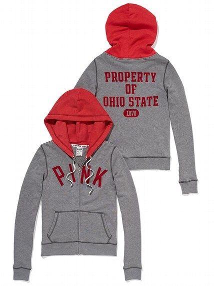 ohio state pink victorias secret | Victoria's Secret PINK The Ohio State University Perfect Zip Hoodie # ...