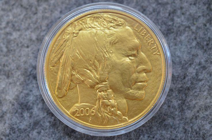 Jetzt vor Wertverlust des Euros schützen und Goldmünzen kaufen: Buffalo 2006 - 1 Unze Feingold 1 OZ Fine gold  In God We Trust 999,9/1000 #coins #goldcoins #münzen #goldmünzen #kaufen