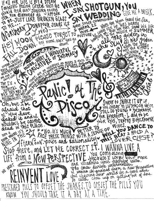 Image result for panic at the disco lyrics