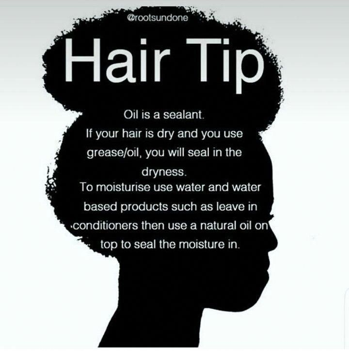Dry hair? Use water or a water based moisturizer, then oil, then butter or cream