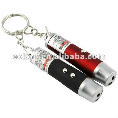 2014 New arrival custom laser keychain acrylic keychain pointer 3 in1 function for promotion