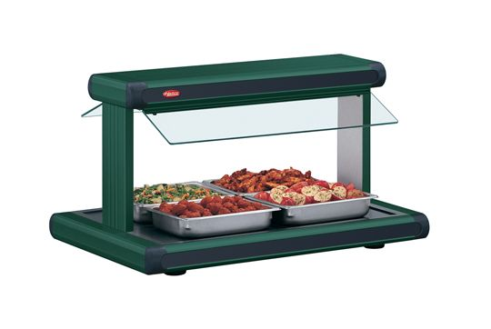 The Glo-Ray® Designer Buffet Warmer (GR2BW Series) from Hatco holds hot foods safely at optimum serving temperatures while maintaining product quality, using a thermostatically-controlled heated base and pre-focused infrared overhead heat to extend holding times.
