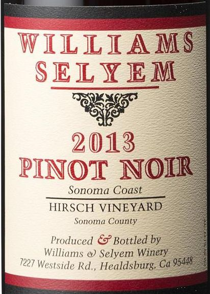2013 Williams Selyem Pinot Noir Hirsch Vineyard