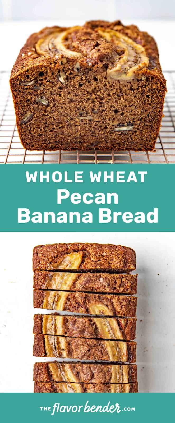Incredibly Light Moist Banana Bread Made With Whole Wheat Flour Delicious Whole Wheat Banana Bread In 2020 Banana Pecan Bread Whole Wheat Banana Bread Wheat Banana