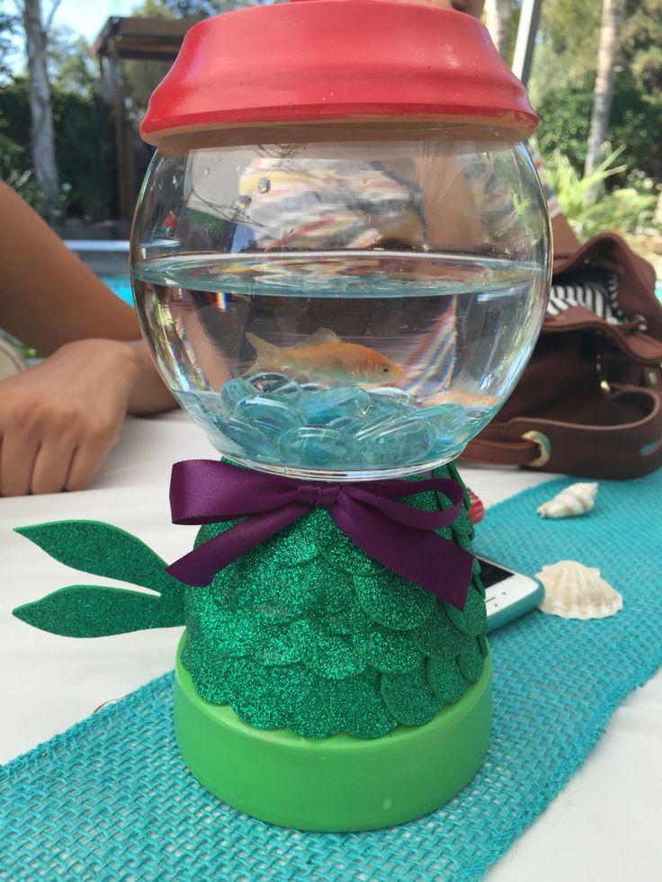 little mermaid under the sea centerpiece rhylees first birthday pinterest the dollar store. Black Bedroom Furniture Sets. Home Design Ideas