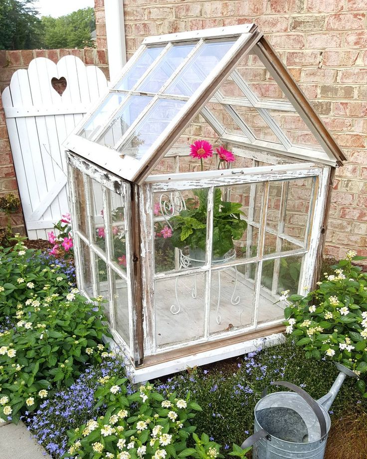 Sharing my little greenhouse/cold frame made from old windows! via @happydaysfarm